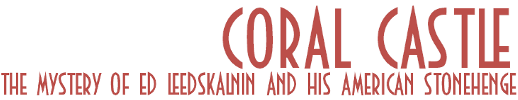 Coral Castle to be relased at bookstores nationwide on November 1, 2009